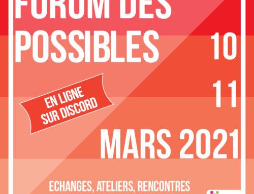 Le Forum des Possibles est de retour !